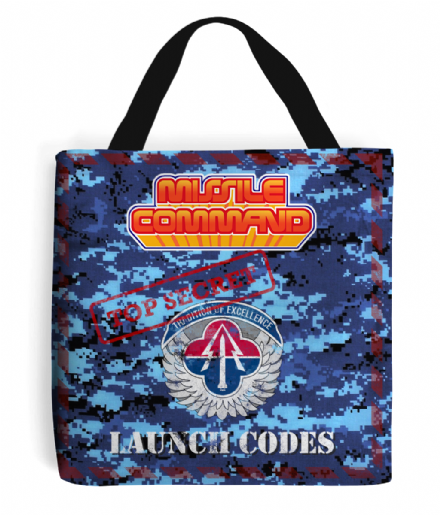 Atari 2600 Missile Command Launch Codes Tote Bag